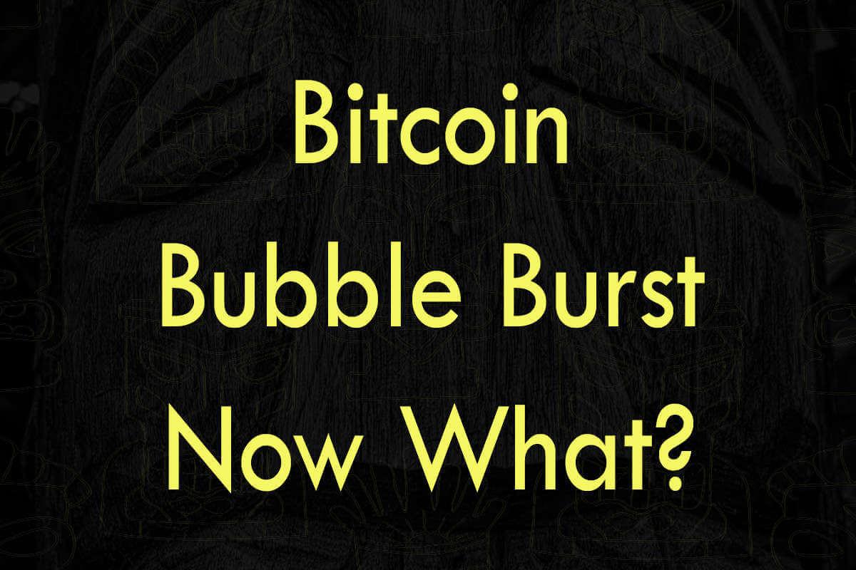 Post about bitcoin bubble burst