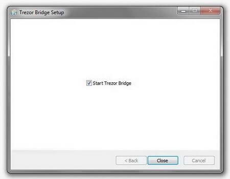 Start Trezor Bridge