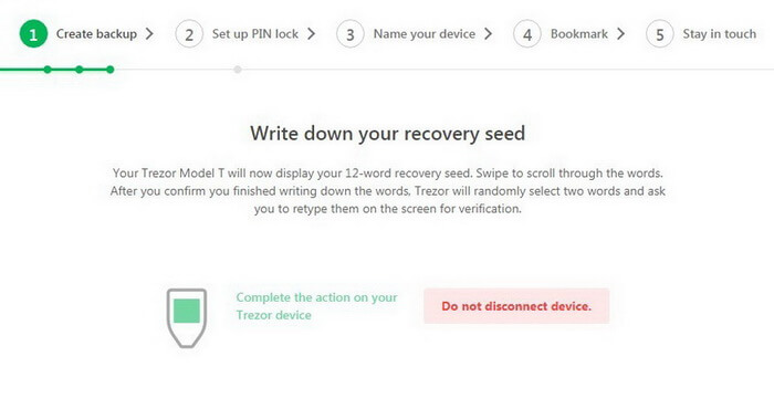 Write down your recovery seed