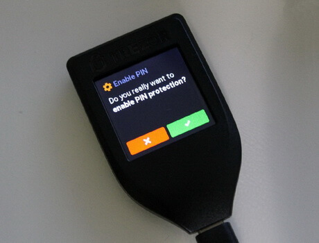 Enable PIN on Trezor