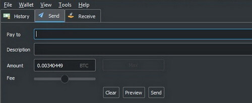 Send Bitcoin from Electrum wallet