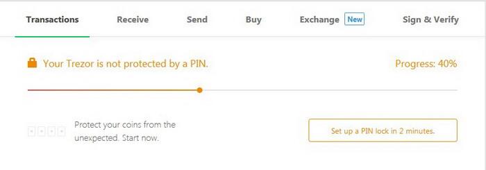New PIN code