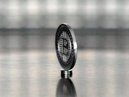 Silver plated Bitcoin (BTC) commemorative coin