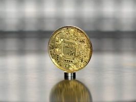 Bitcoin Vires in numeris (BTC) gold plated commemorative coin