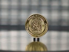 Gold Bitcoin Coin Physical Titan (BTC) commemorative coin