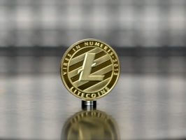 Litecoin (LTC) gold plated commemorative coin