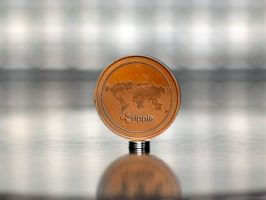 Copper plated Ripple (XRP) commemorative coin