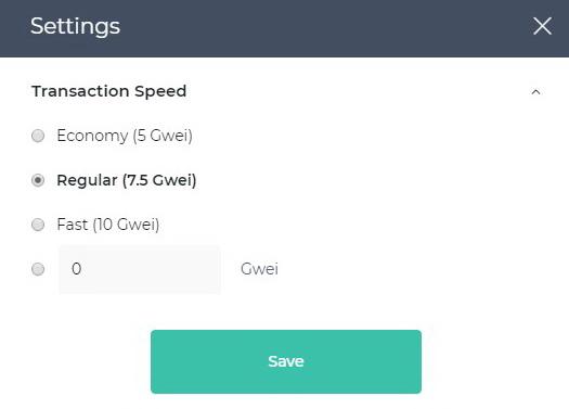 transaction speed
