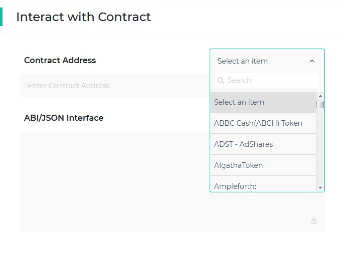 interact with contract