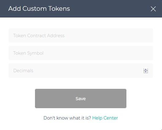 add custom tokens