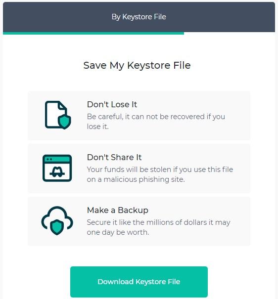 save my keystore file