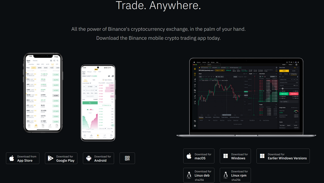 Mobile crypto trading app