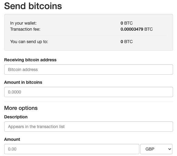 Send bitcoins on LocalBitcoins