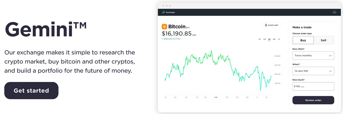 Gemini exchange bitcoin