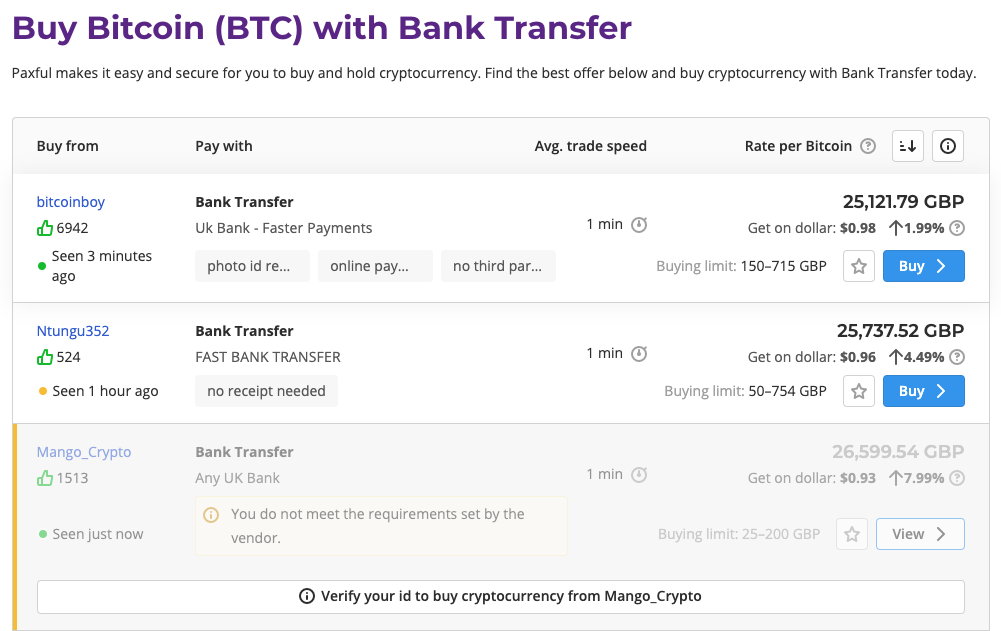 buy bitcoins with bank transfer