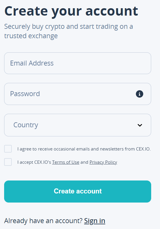 CEX.IO verification