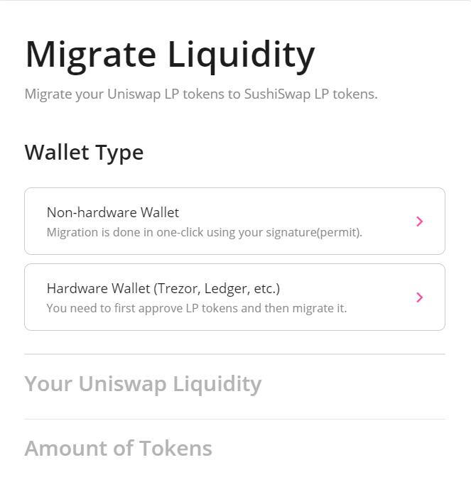 migrate liquidity