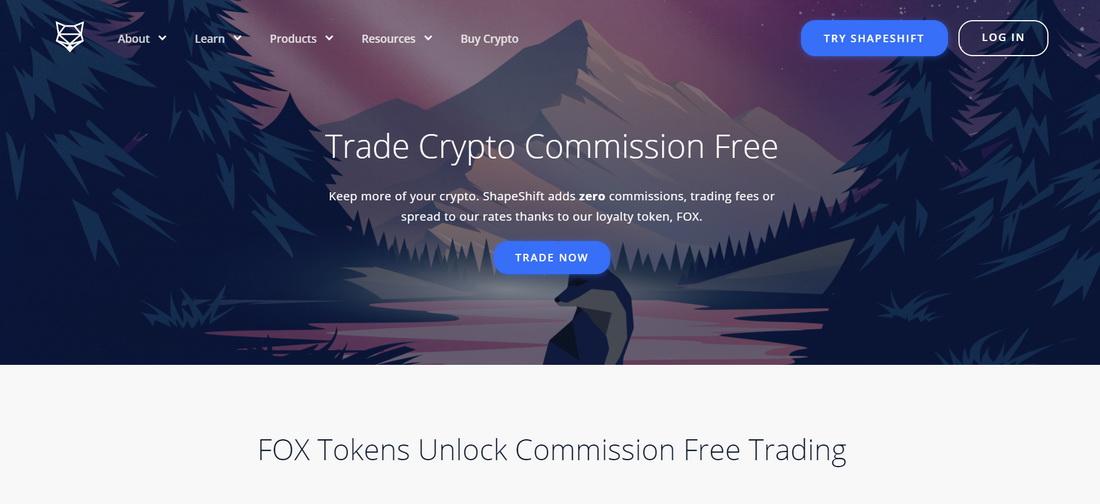 ShapeShift exchange fees